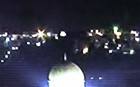 UFO hovers over Jerusalem shine