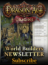 Sign up for the Dragon Age: Origins World Builders Newsletter