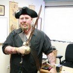 Ken in 2007 on Pirate Day in his office at Sonlight Curriculum