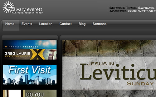 Calvary Everett - Beautiful Church Website