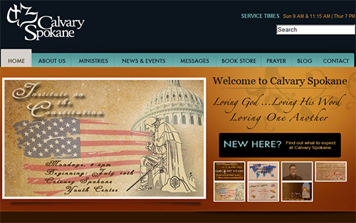 Calvary Spokane - Beautiful Church Website