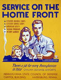 Service on the Homefront Poster