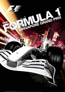 Unofficial artwork for the 2008 Singapore Grand Prix. © FOA