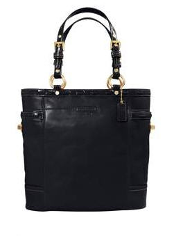 Gallery leather laced north-south tote
