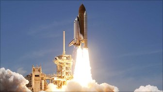 Space shuttle Atlantis launches from Kennedy Space Center in 2010