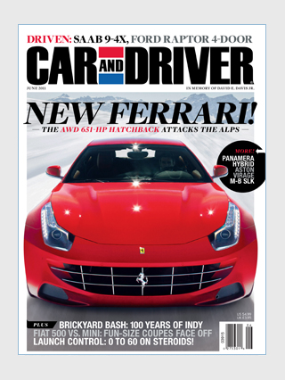 In This Months Issue of <i>Car and Driver</i>