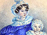 Catherine Pakenham. latterly the Duchess of Wellington, with daughter Kitty