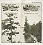 Brochure of the Grand Trunk Railway, 1901, with a photograph of a steamship on a lake in Muskoka