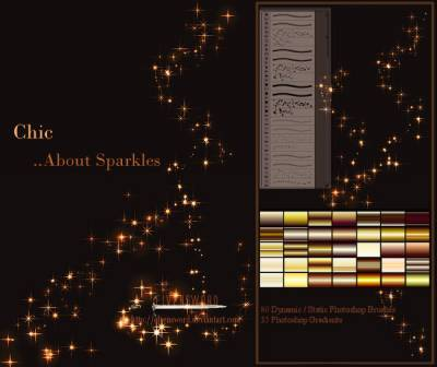 Chic Sparkles photoshop Gradient
