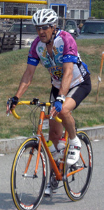 John Kerry riding in the Pan Mass Challenge in 2007