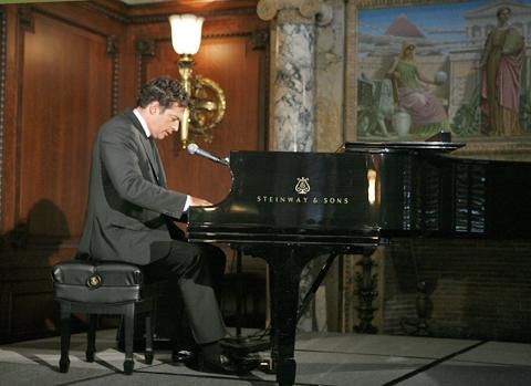 Harry Connick Jr. performing at the Library of Congress at the announcement of a new website of over 10,000 rare historic sound recordings available to the public for the first time digitally.