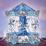 Dream Dancers Tiffany Stained Glass Carousel - Limited-edition Animated Musical Carousel Collectible in an Exclusive Illuminated Tiffany-style Carousel Music Box
