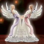 Sisters Are Gifts To Treasure Forever Musical Angel Figurine - Collectible Angel Figurine Celebrates Sisterly Love! Limited-edition Musical Figurine Makes an Exquisite Sister Gift!