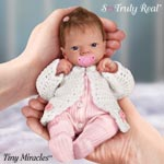 Tiny Miracles Celebration Of Life Emmy Realistic Baby Doll: So Truly Real - Exclusive Collectible Lifelike Baby Girl Doll with FREE Pacifier! Realistic Vinyl Doll Measures JUST 10 INCHES LONG!