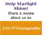 Help Starlight shine on GreatNonprofits!