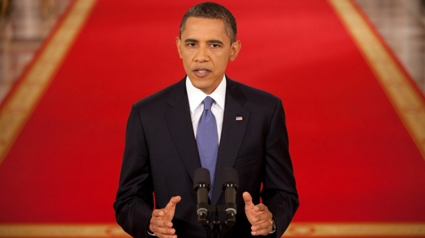 President Barack Obama addresses the nation from the East Room of the White Hous