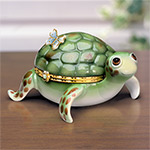 Little Charmer Limoges Style Collectible Turtle Music Box: Turtle Lover Gift - Collectible Limoges-style Turtle Music Box Captures the Delightful Appeal of Baby Turtles! Exclusive Market First!