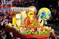 Lotus Lantern Festival: A lantern festival is held to commemorate the birth of Buddha on a weekend before the date (April 8th on the lunar calendar).
