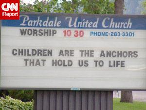 Church sign