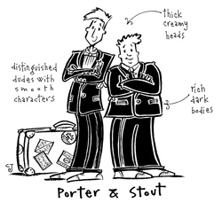 Porter and Stout Characters