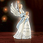 My Daughter, My Joy Musical Porcelain Figurine - Daughter Porcelain Figurine is a Musical Limited Edition Exclusive! Angel with Platinum Filigree Designed Accents!