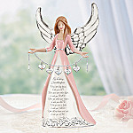 Darling Granddaughter, I Wish You Collectible Angel Figurine Gift - Collectible Granddaughter Angel Figurine with Heart-shaped Charms! A Limited-edition Inspirational Gift for Granddaughters!