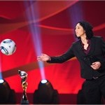 Steffi Jones, President of the Organising Committee Germany of the FIFA Women?s World Cup 2011, throws a ball
