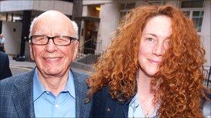 Rupert Murdoch and Rebekah Wade