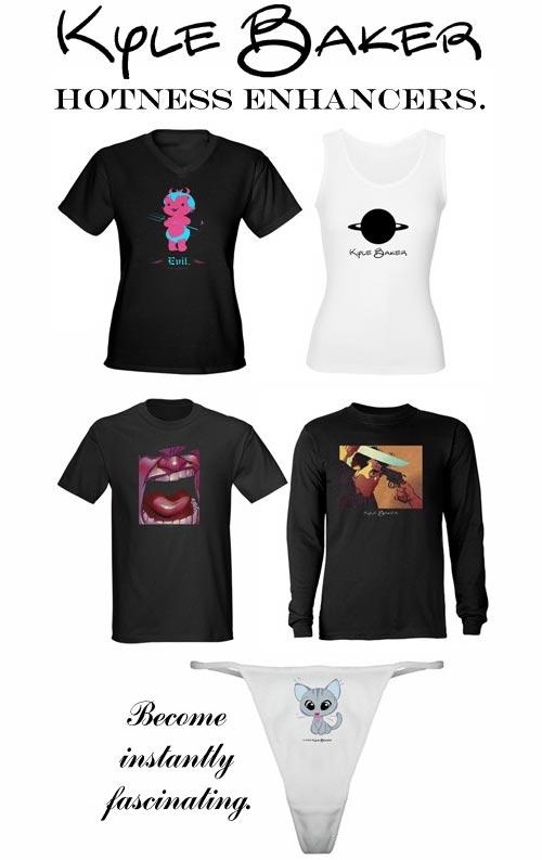 Look Cool. Get Laid. Kyle Baker Geniuswear.