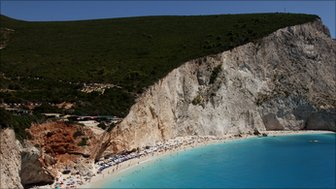 Porto Katsiki, on the island of Lefkada, Greece