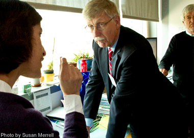 NIH Director Francis Collins, MD, PhD, visits QB3