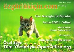 Özgürlükİçin e-dergi<br/> Ağustos / Eylül 2008 - Sayı: 05