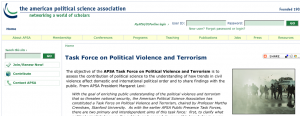 APSA Task force web page