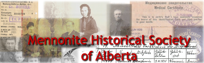 Mennonite Historical Society of Alberta>   <table width=