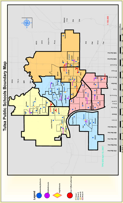 Map of Tulsa Public School District