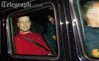 Anders Behring Breivik in a police vehicle leaving the Oslo Municipal Court
