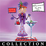 Dolly Mamas Dazzling Divas Lady Figurine Collection - Limited-edition Dolly Mamas Lady Figurines by Artist Joey Heiberg! Whimsical Collectible Firsts with Sassy Attitude!