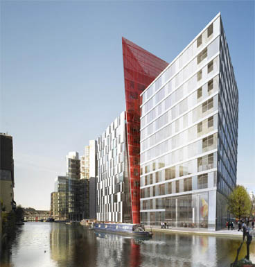 Merchant Square, London – mossessian & partner's first office building currently under construction at Paddington Basin.