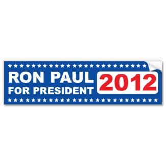 Ron Paul for President 2012 Bumper Sticker bumpersticker