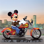Disneys Mickey Mouse Collectible Motorcycle Figurine - Leader Of The Pack - Collectible Disney Mickey Mouse Motorcycle Figurine! Exclusive Limited Edition a Unique Disney Gift Idea!