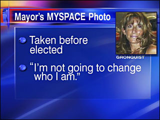Mayor's racy photos become the talk of the town