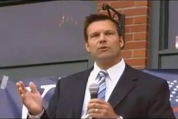 Kris Kobach campaigns in Wichita, Kans. (YouTube: WichitaLiberty)