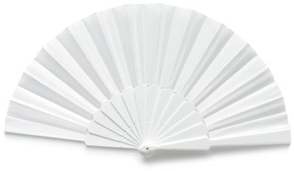 Plain White Plastic Hand-Held Fan