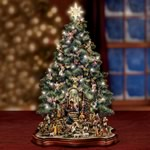 Illuminated Tabletop Nativity Scene Christmas Tree Collection - Exclusive First-ever! Christmas Nativity Scene Depicted in a Musical Tabletop Christmas Tree! 50 Movable Figurines!