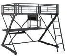 metal full size high loft bed