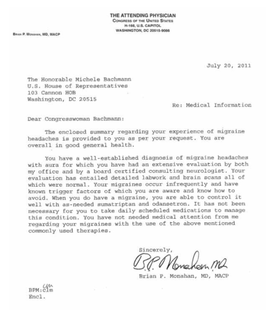 The_Attending_Physician_of_the_Congress_Letter_Regarding_Rep_Michele_Bachmann_Migraines_July_2011-07-22_1108