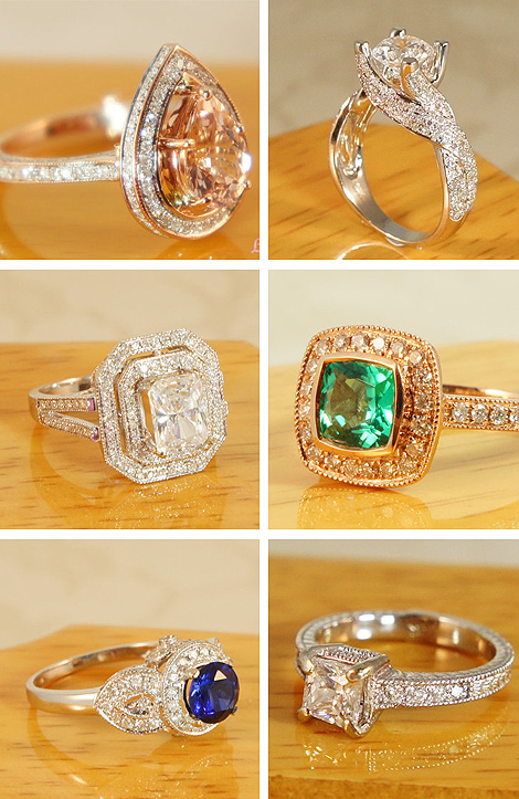 Engagement Rings by The Vintage Goldsmith