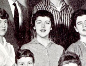 Stanley Ann Dunham, Barack Obama's mother, in the 1959 Mercer Island High School yearbook. She died of ovarian cancer in 1995.