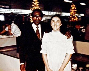 Sen. Barack Obama's father, also named Barack Obama, and mother, Stanley Ann Dunham, are shown in an undated photo.