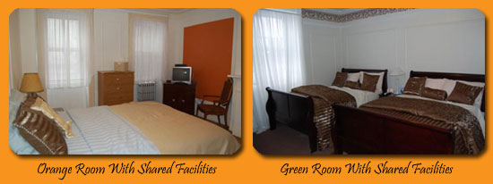 Orange Room and Green Room